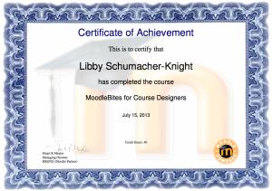 Moodlebites Course Designers Certificate